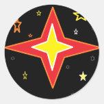 Crazy Stars Classic Round Sticker