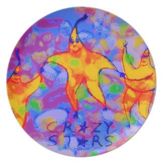 Crazy Stars/Clowning Around Melamine Plate