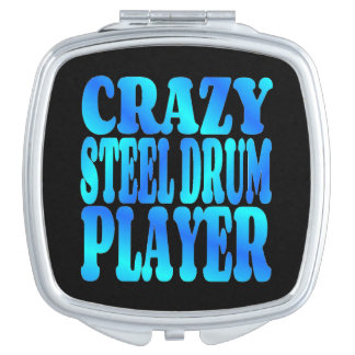 Crazy Steel Drum Player Compact Mirror