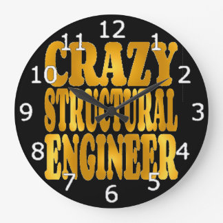 Crazy Structural Engineer in Gold Clocks