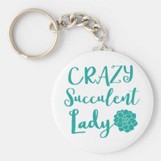 crazy succulent lady keychain