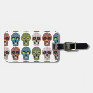 Crazy Sugar Skull Pattern Luggage Tag