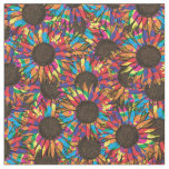 crazy sunflower pattern fabric