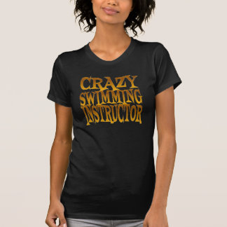 Crazy Swimming Instructor in Gold T-Shirt