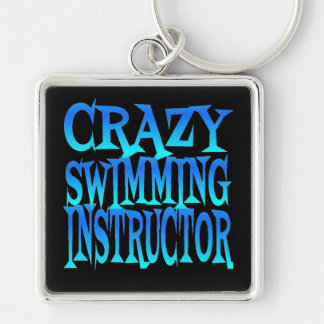 Crazy Swimming Instructor Keychain