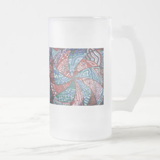 Crazy Swirl Frosted Glass Beer Mug