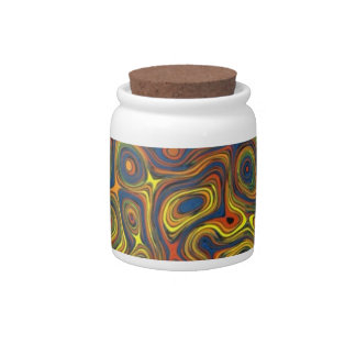 Crazy Swirls Candy or Storage Jar, Abstract Design Candy Dish
