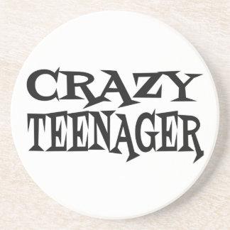 Crazy Teenager Beverage Coasters