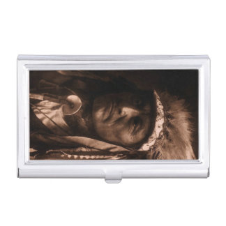 Crazy Thunder Ogalala Native American Sioux Business Card Case