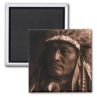 Crazy Thunder Ogalala Sioux 2 Inch Square Magnet