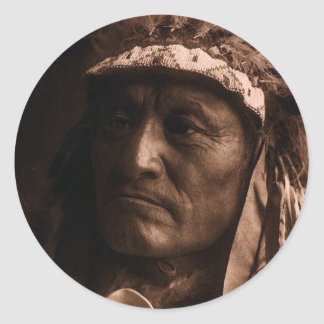 Crazy Thunder Ogalala Sioux Classic Round Sticker