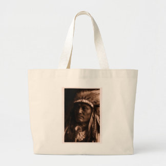 Crazy Thunder Ogalala Sioux Large Tote Bag