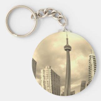 Crazy Toronto Skyline Keychain