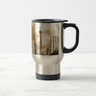 Crazy Toronto Skyline Travel Mug