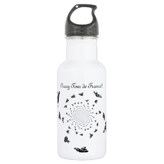 Crazy Tour de France Abstract Bikes Stainless Steel Water Bottle