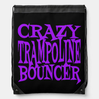 Crazy Trampoline Bouncer in Purple Drawstring Backpack