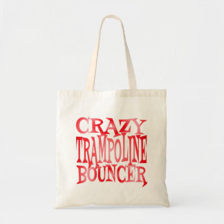 Crazy Trampoline Bouncer in Red Tote Bag
