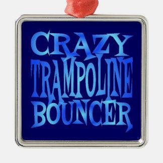 Crazy Trampoline Bouncer Square Metal Christmas Ornament