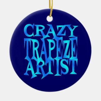 Crazy Trapeze Artist Ceramic Ornament