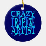 Crazy Trapeze Artist Double-Sided Ceramic Round Christmas Ornament