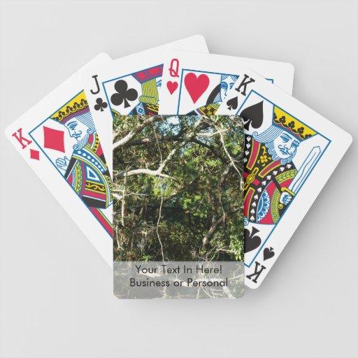 crazy tree limbs nature photo image poker deck