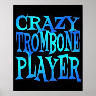 Crazy Trombone Player Print
