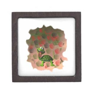 Crazy turtle tongue out roses grunge back keepsake box