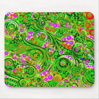 Crazy Twisted Abstract Art Decor Mouse Pad