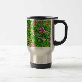 Crazy Twisted Abstract Art Decor 15 Oz Stainless Steel Travel Mug