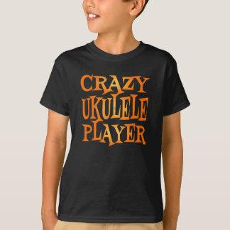 Crazy Ukulele Player T-Shirt