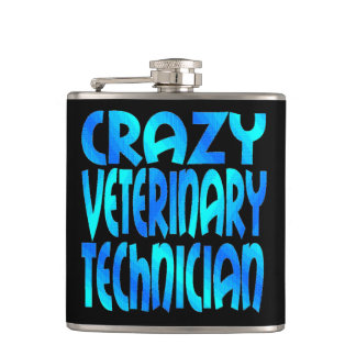 Crazy Veterinary Technician Hip Flask