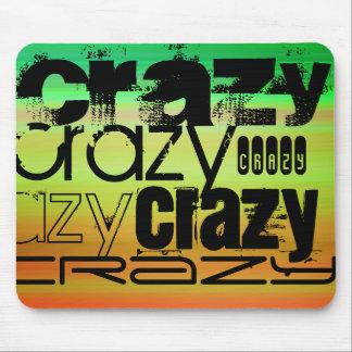 Crazy; Vibrant Green, Orange, & Yellow Mouse Pad