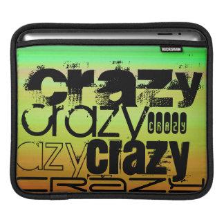 Crazy; Vibrant Green, Orange, & Yellow Sleeve For iPads