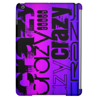 Crazy; Vibrant Violet Blue and Magenta iPad Air Covers
