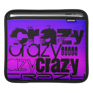 Crazy; Vibrant Violet Blue and Magenta iPad Sleeves