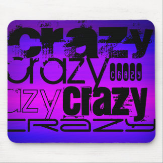 Crazy; Vibrant Violet Blue and Magenta Mouse Pad