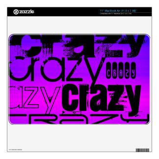 "Crazy; Vibrant Violet Blue and Magenta 11"" MacBook Air Decal"