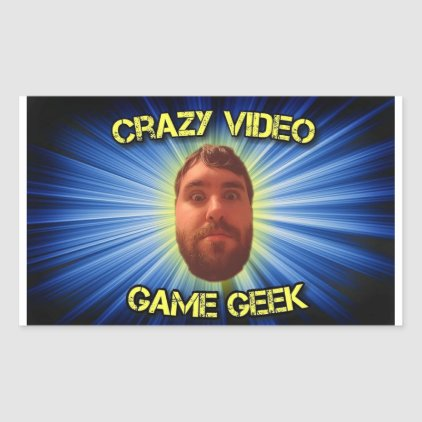 Crazy Video Game Geek Thumbnail Sticker