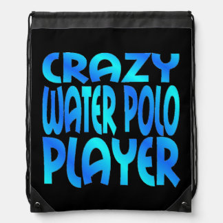 Crazy Water Polo Player Drawstring Backpack