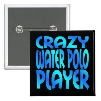 Crazy Water Polo Player Pinback Button
