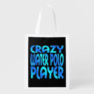 Crazy Water Polo Player Reusable Grocery Bag