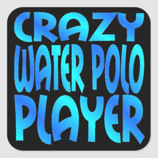 Crazy Water Polo Player Square Sticker