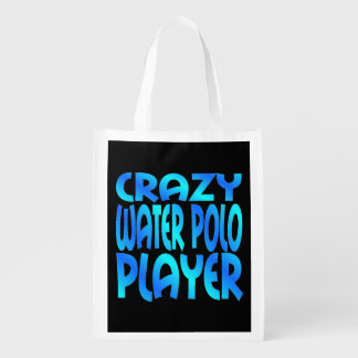Crazy Water Polo Player Grocery Bags