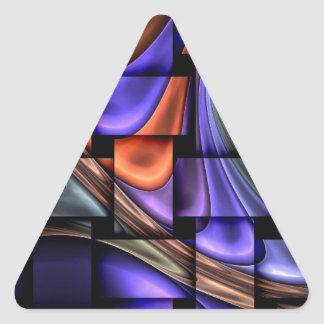 CRAZY WEAVE PATTERN TRIANGLE STICKERS