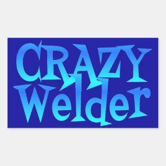 Crazy Welder Rectangular Sticker