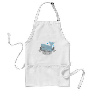 crazy whale lady adult apron