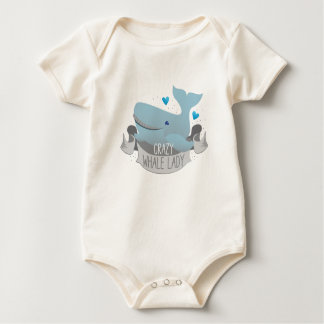 crazy whale lady baby bodysuit