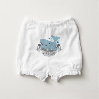 crazy whale lady diaper cover
