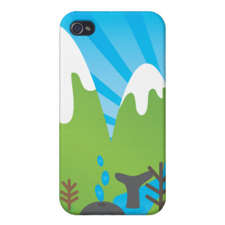 Crazy whale lost in the mountains kids iphone case