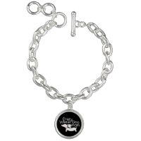 Crazy Wiener Charm Bracelet